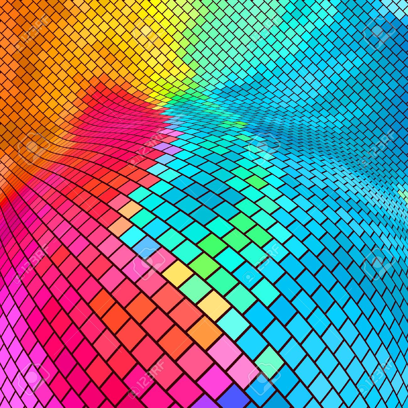 Abstract mosaic background. Stock Vector - 9392594