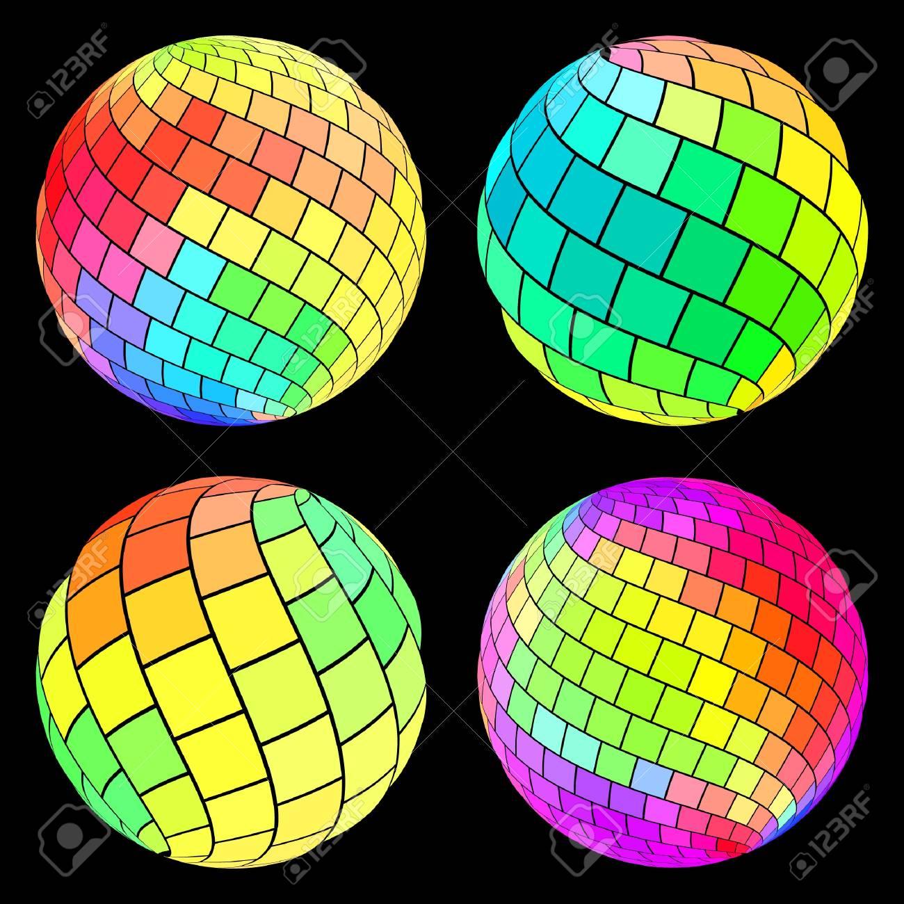 Multicolored globe illustration. Stock Vector - 9392789