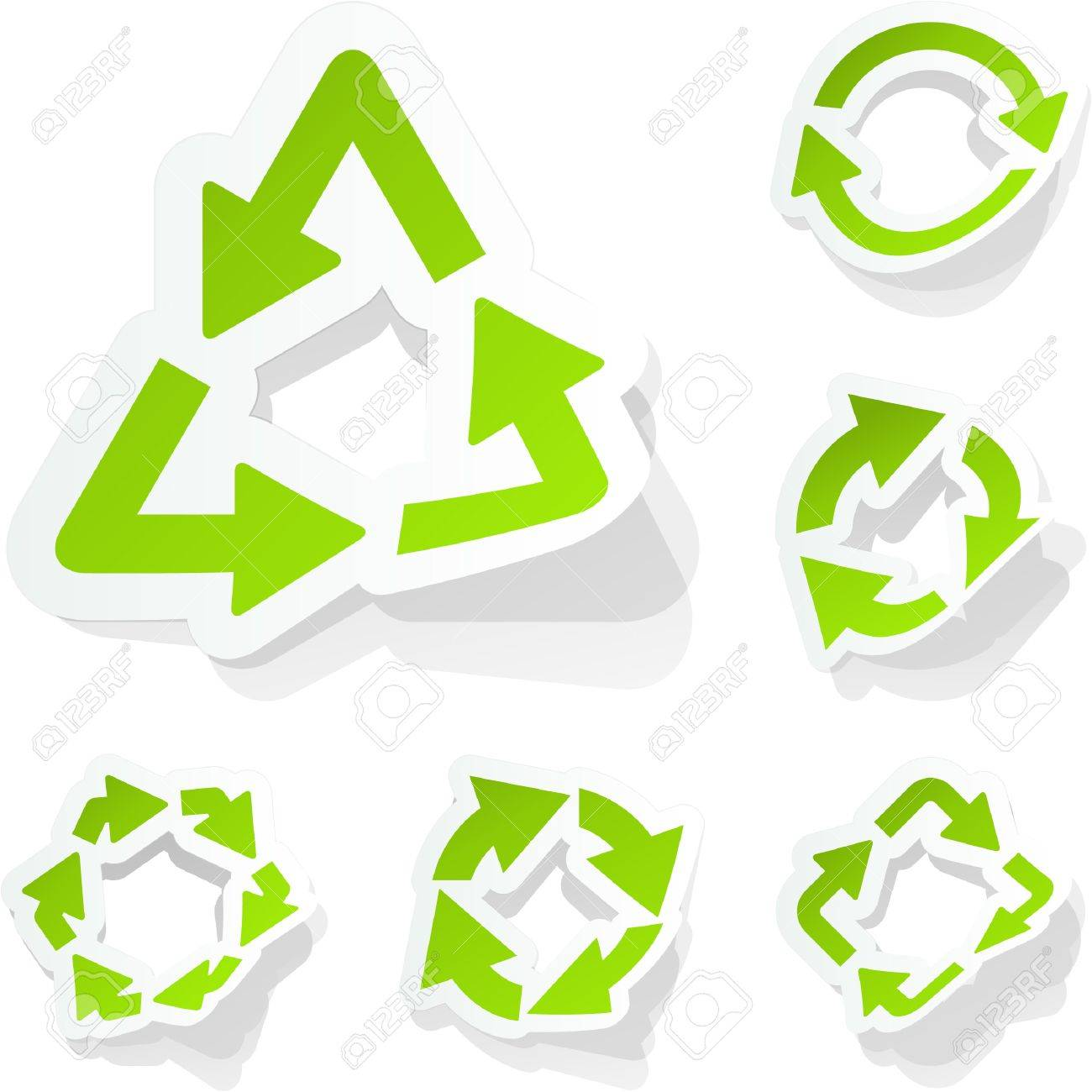Recycle sticker set. Stock Vector - 9040031