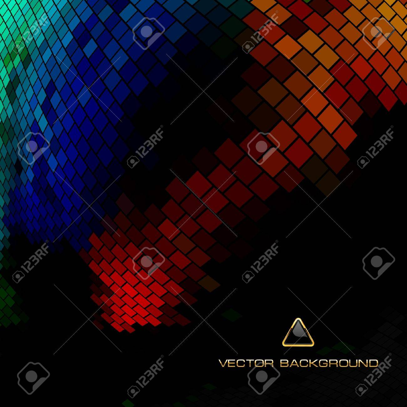 Abstract mosaic background. Stock Vector - 9906523