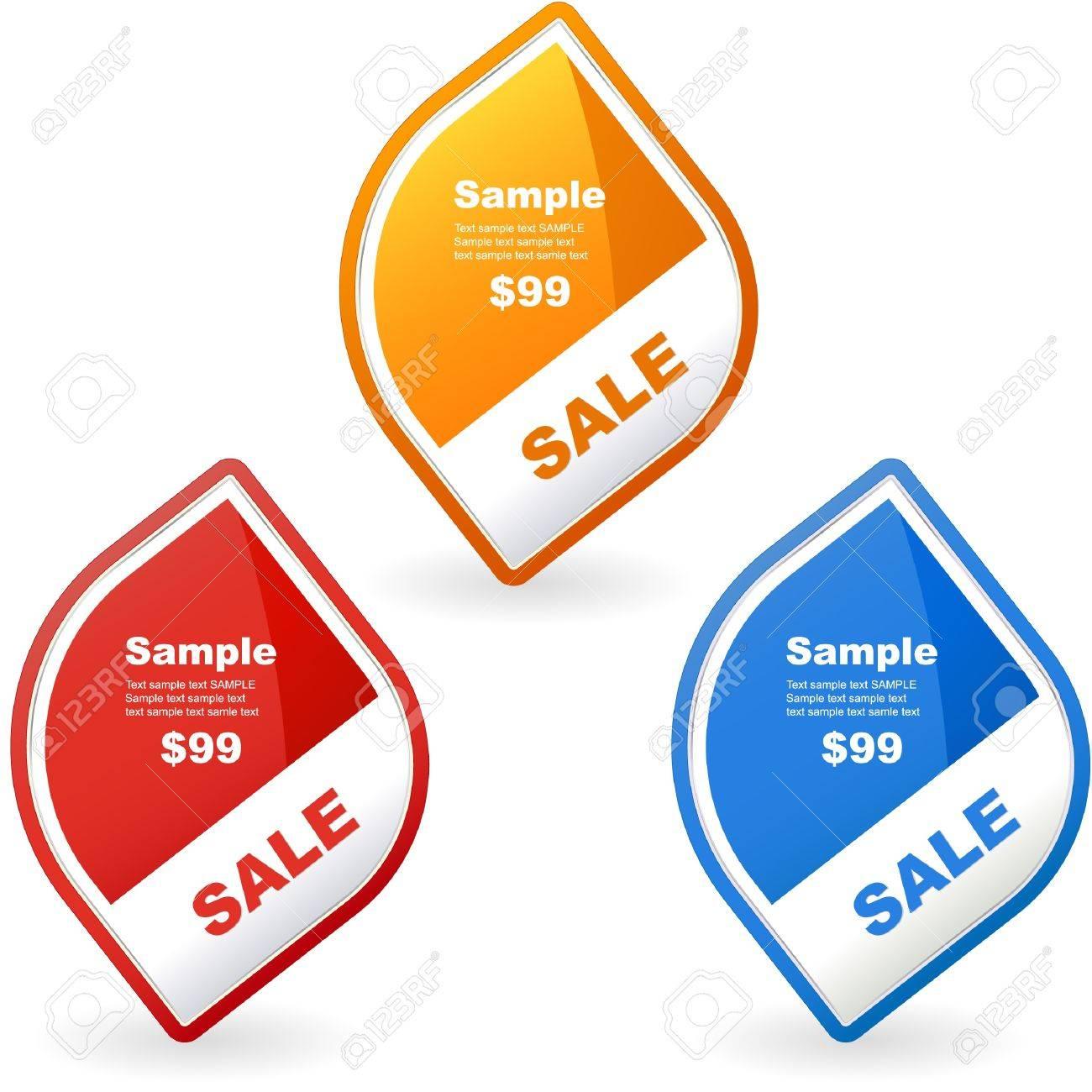 Vector set of sale design elements Stock Vector - 9402793