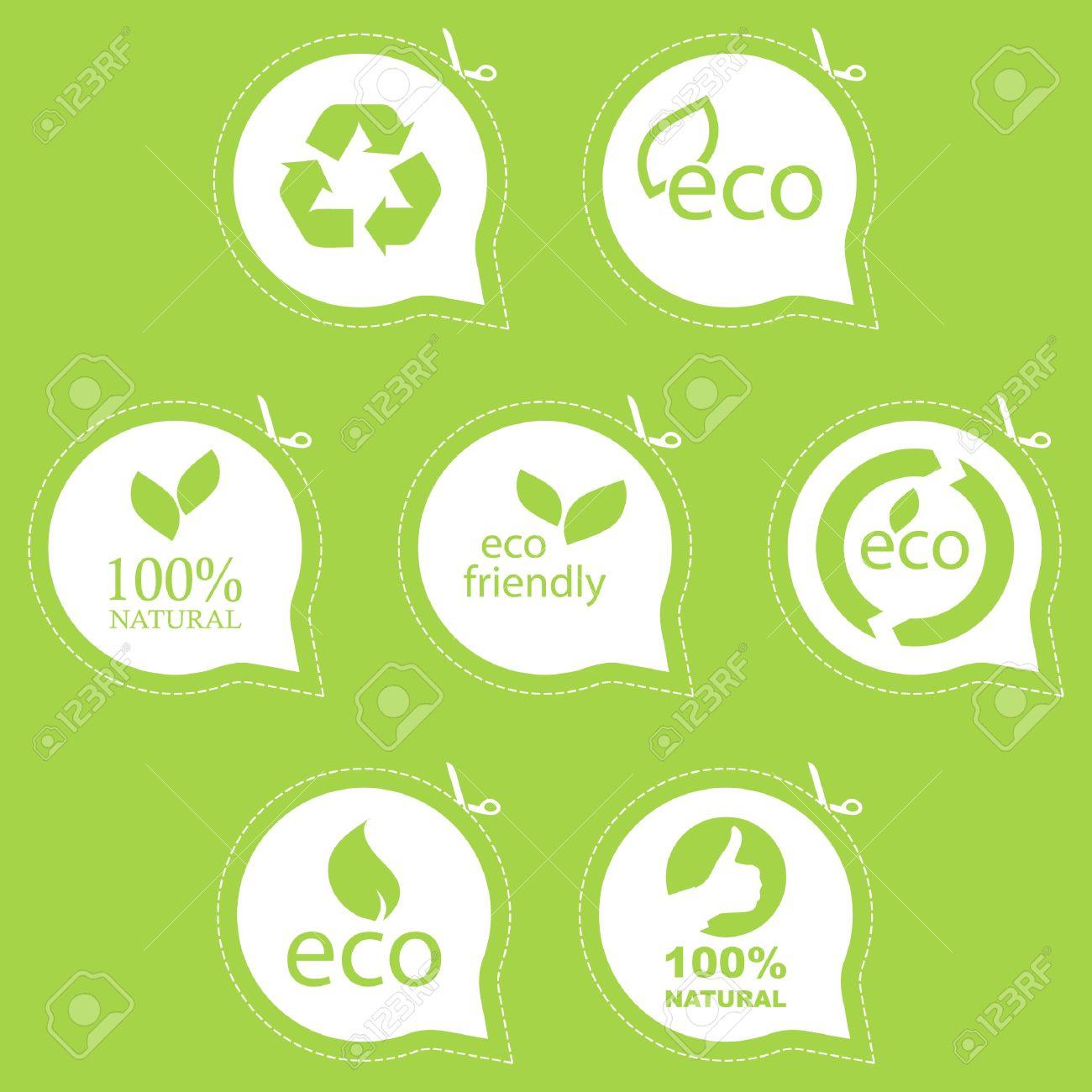Vegan, Organic, Eco Signs Stock Vector - Image: 58232404