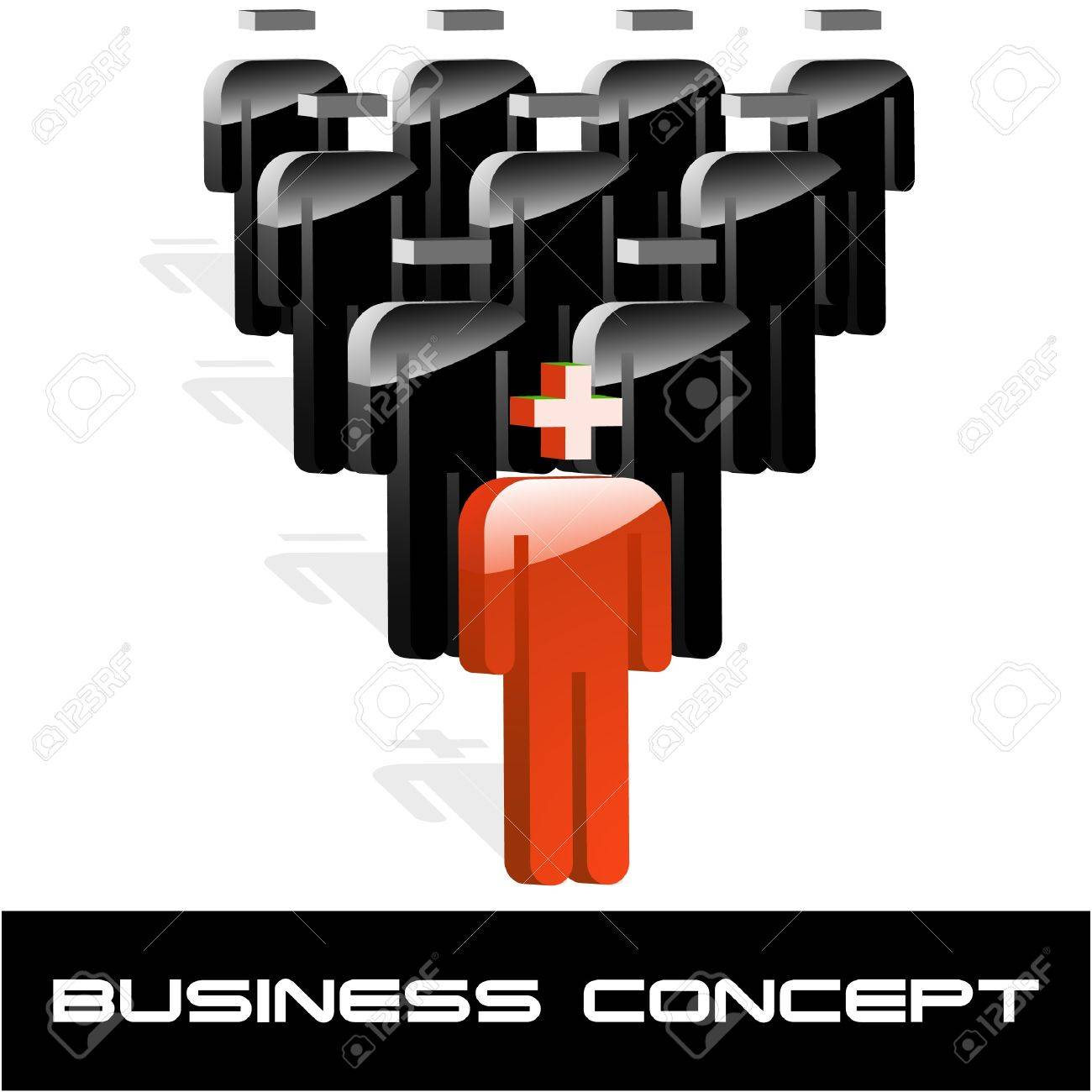 Business concept. Vector illustration. Stock Vector - 9401831