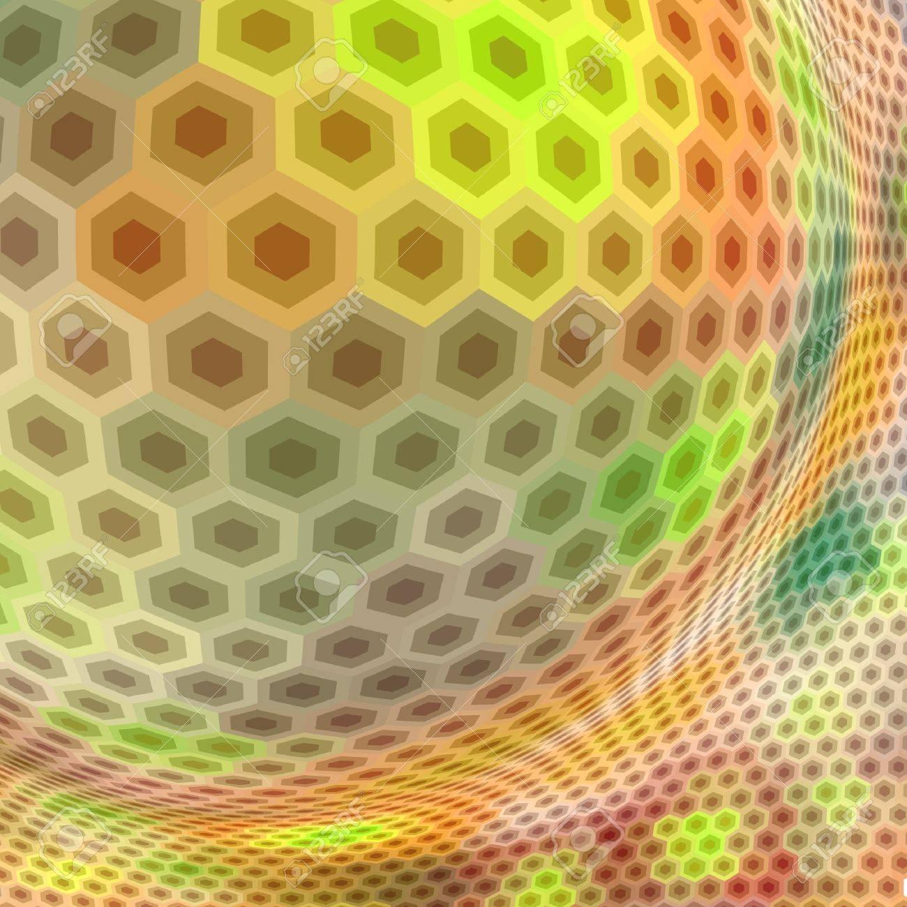 Abstract hexagon mosaic. Stock Vector - 9039250