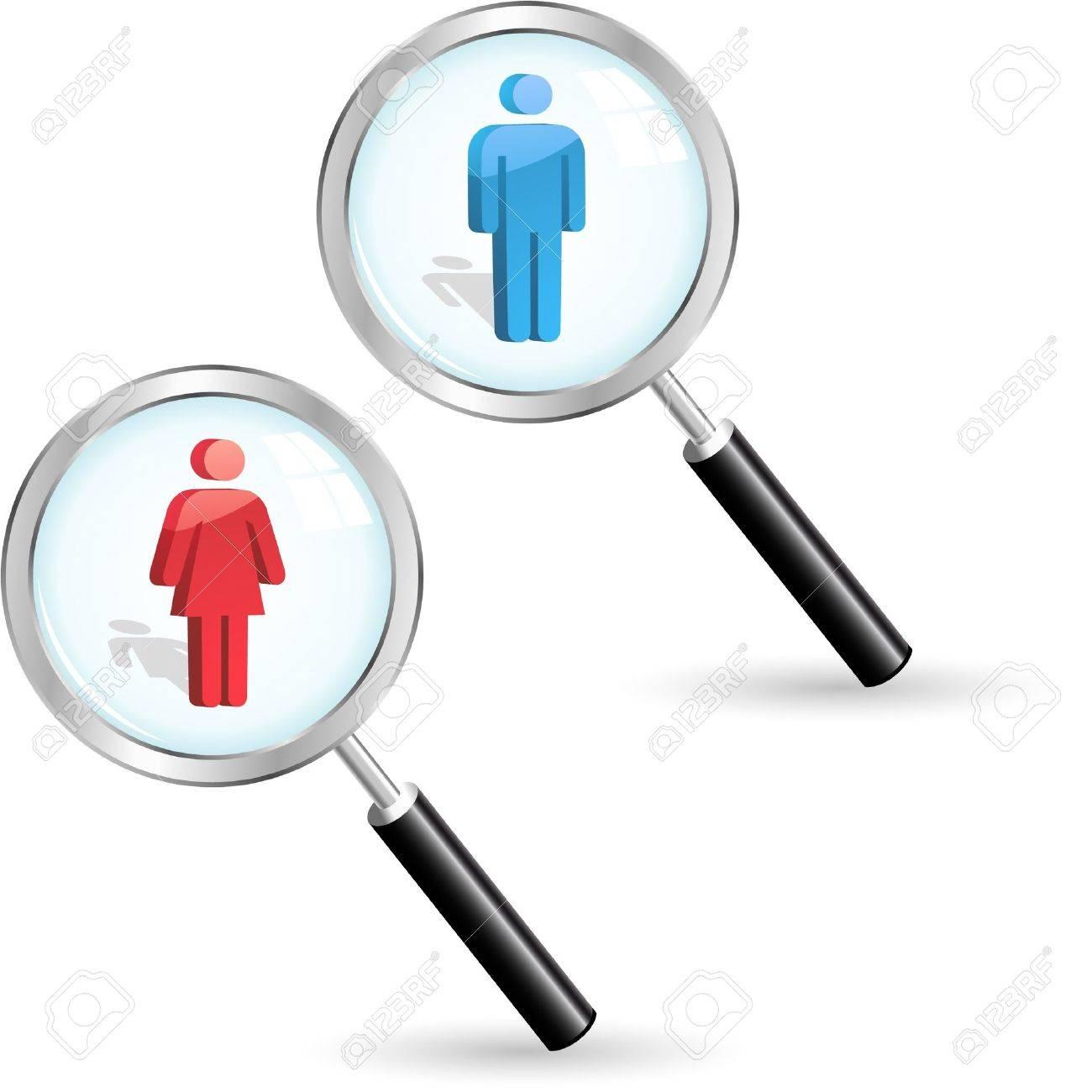 Men and women icon set. Stock Vector - 9401612