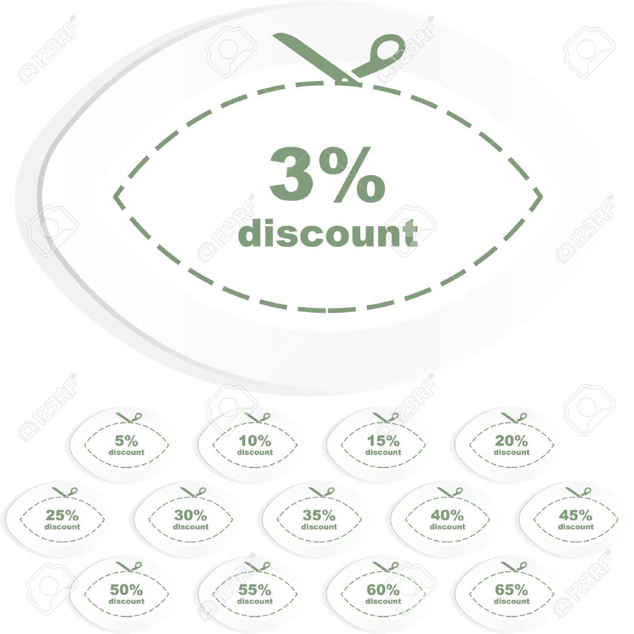 Discount label templates with different percentages Stock Vector - 9039198
