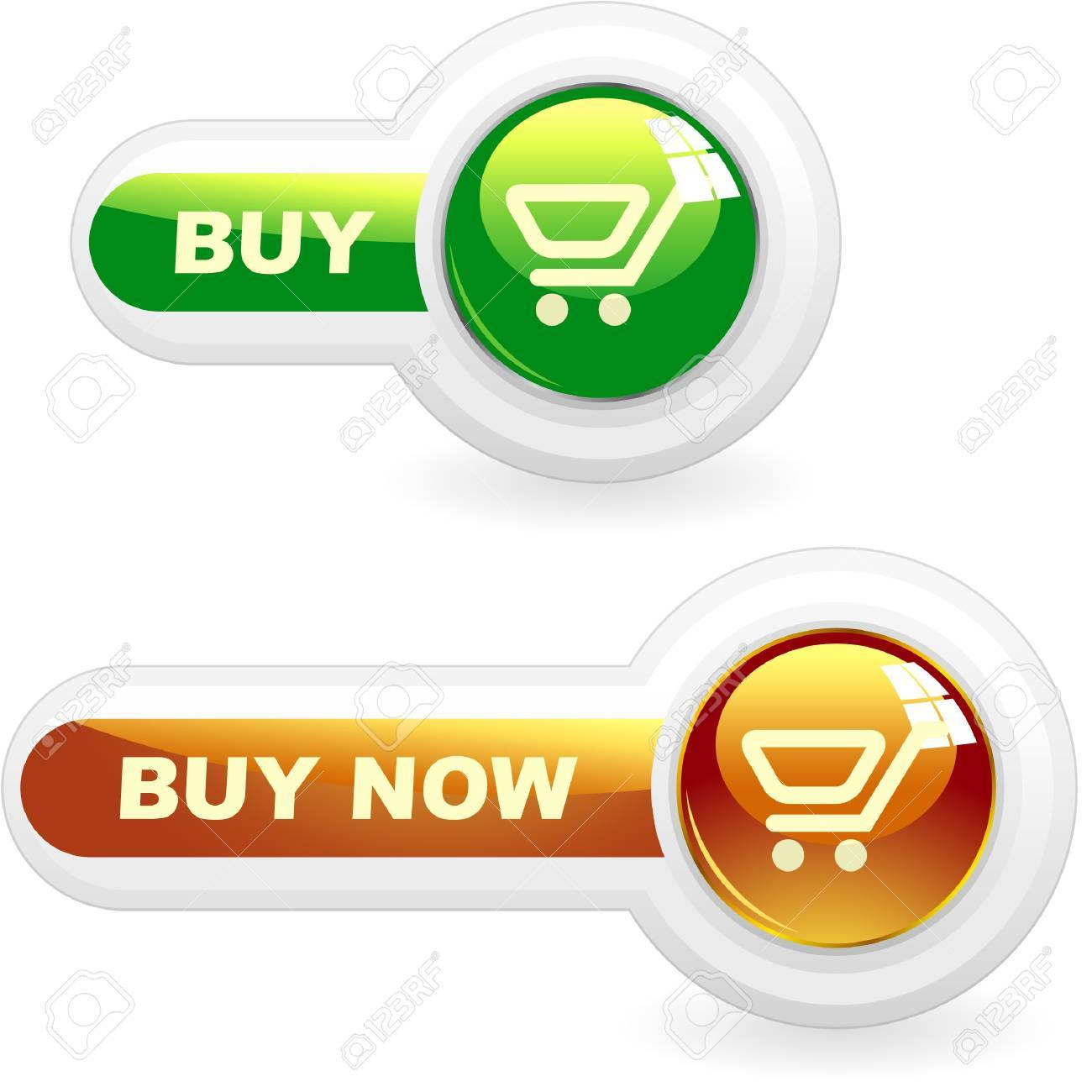 Shopping button. Vector collection. Stock Vector - 9039138