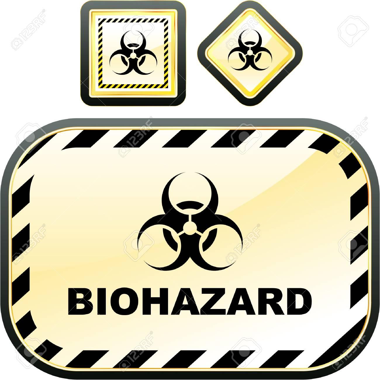 Biohazard sign. Vector illustration. Stock Vector - 9039135