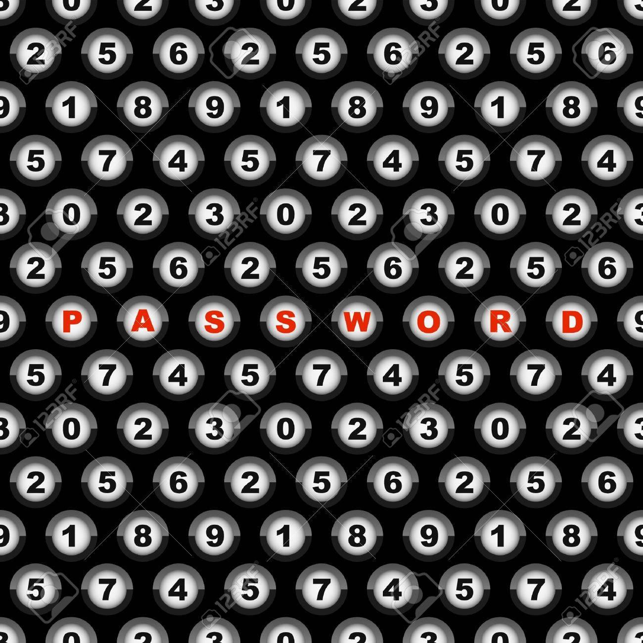 PASSWORD. Seamless background. Stock Vector - 9039191