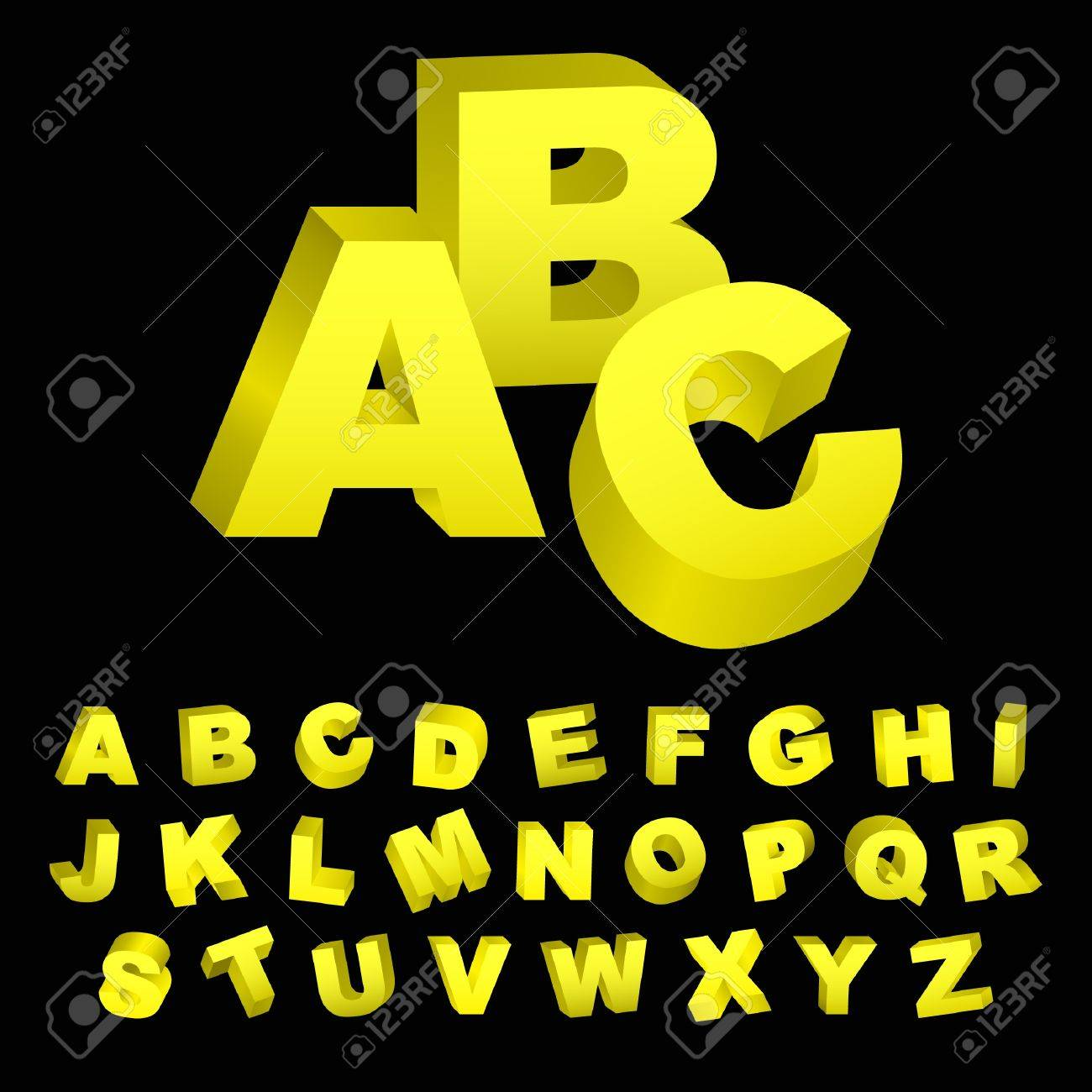 3d alphabet. Vector set. Stock Vector - 9039105