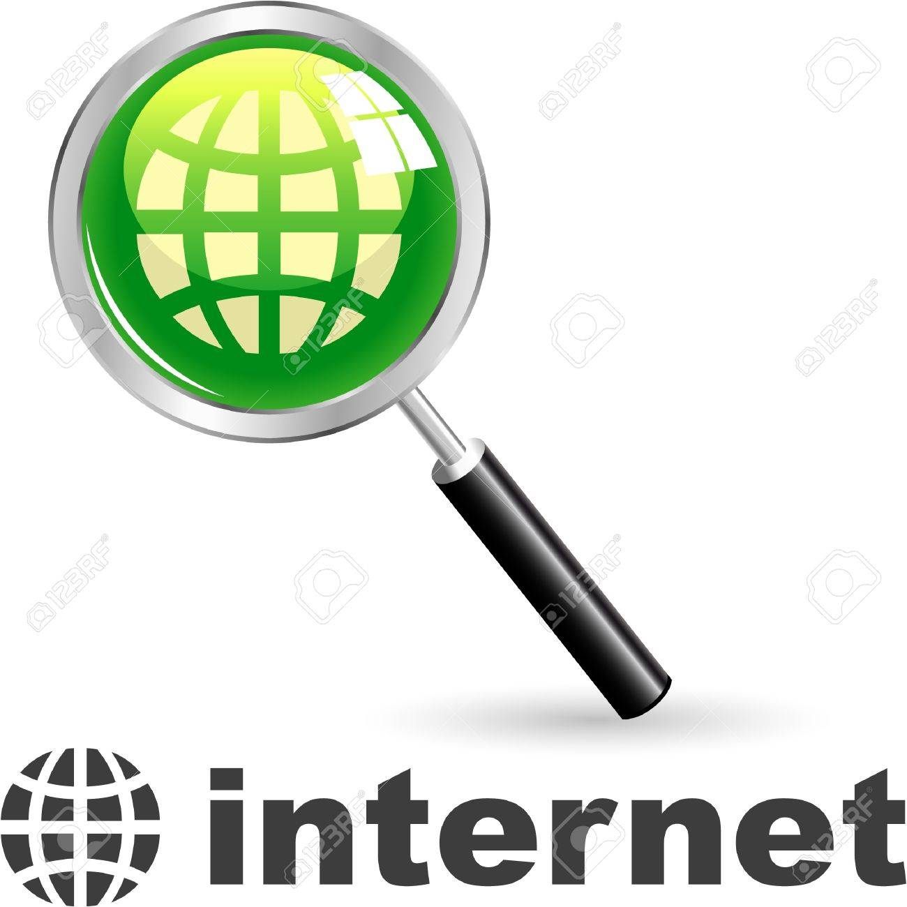 INTERNET. Vector icon. Stock Vector - 8947581
