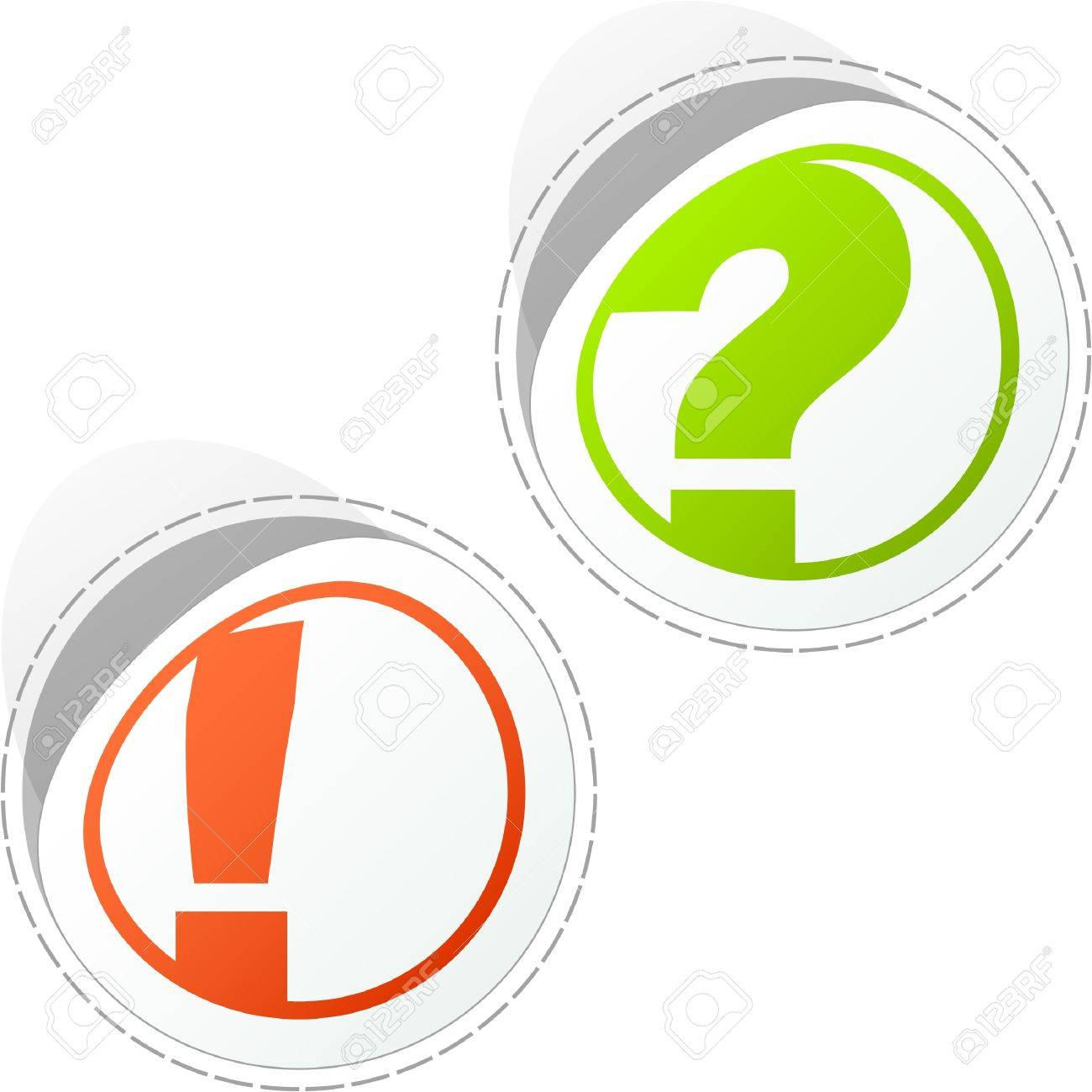 Exclamation and question vector elements. Stock Vector - 8946455