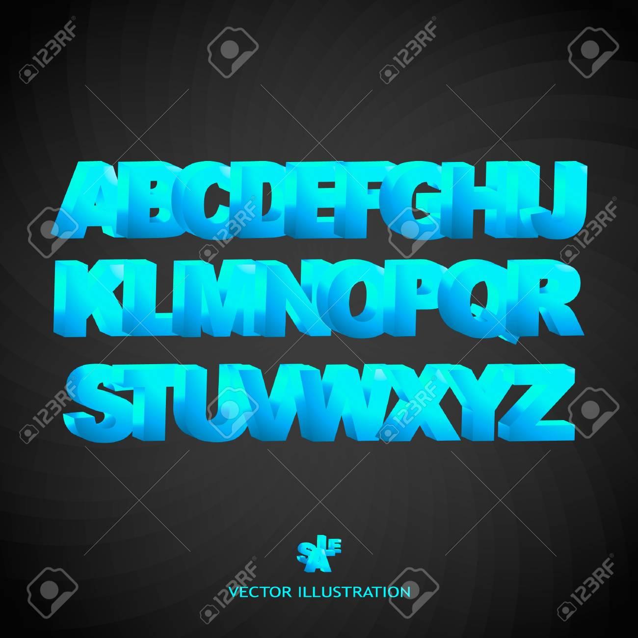 Vector alphabet for design. Stock Vector - 8947694