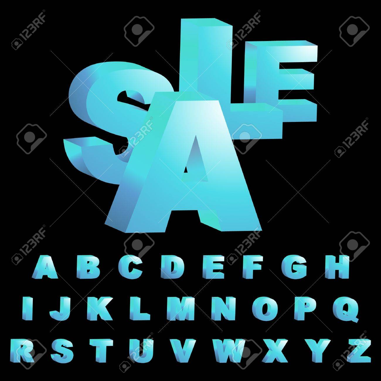 3d alphabet. Vector set. Stock Vector - 8947649