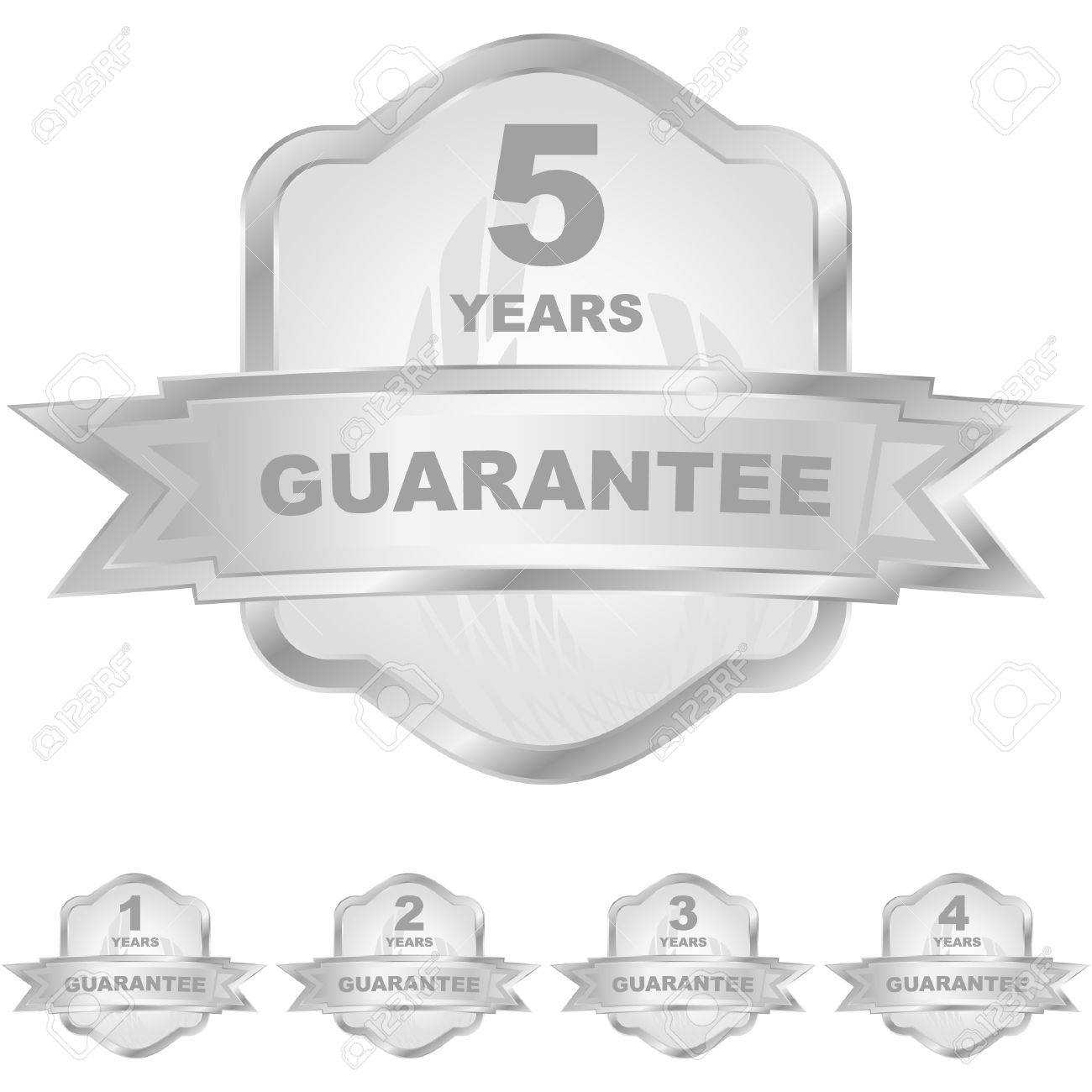Vector guarantee label set. Stock Vector - 8947696