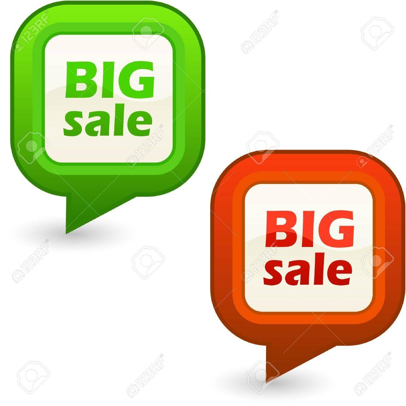 BIG SALE. Design element set for sale. Stock Vector - 8954100
