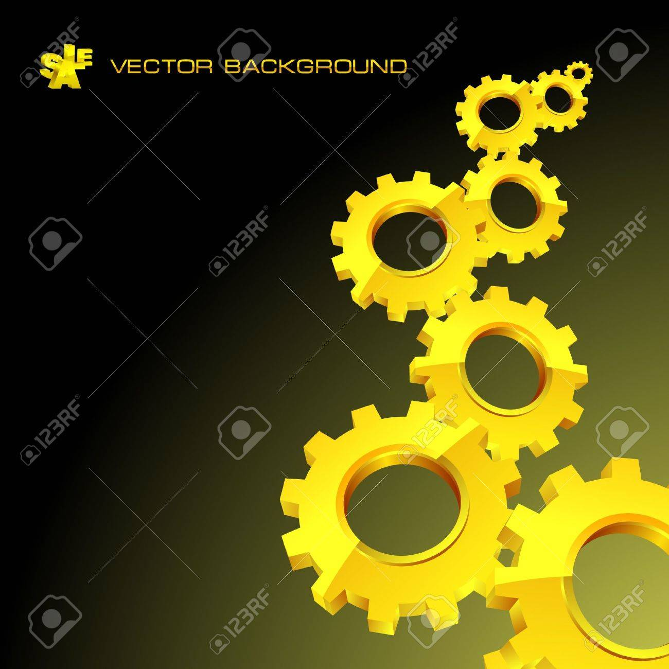 Vector gear background. Abstract illustration. Stock Vector - 8954328