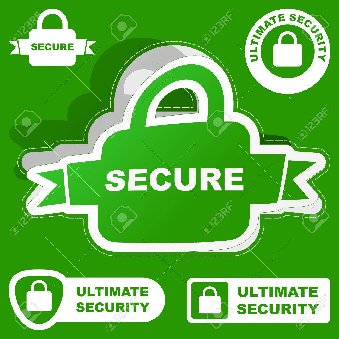 SECURE. Vector collection. Stock Vector - 9021991