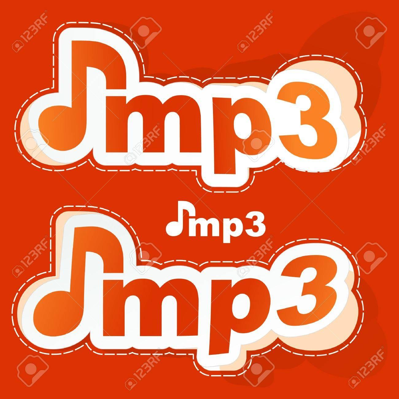 MP3. Sticker set. Stock Vector - 9397544