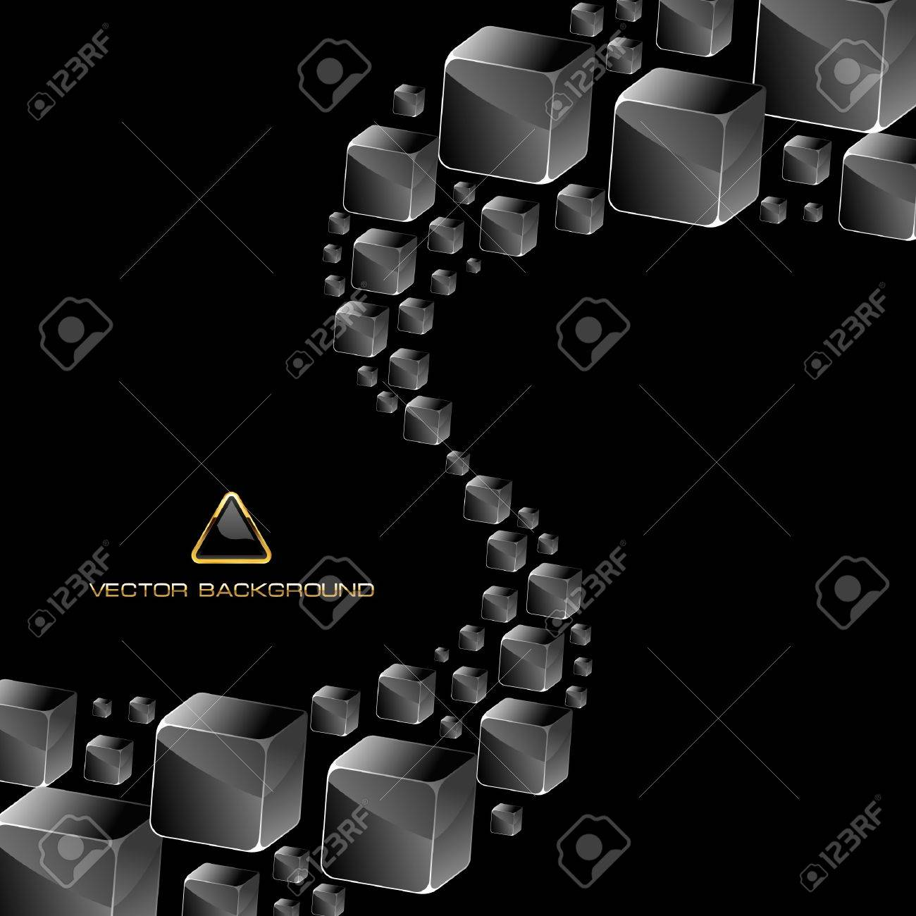 Abstract crystals background. Stock Vector - 9401094
