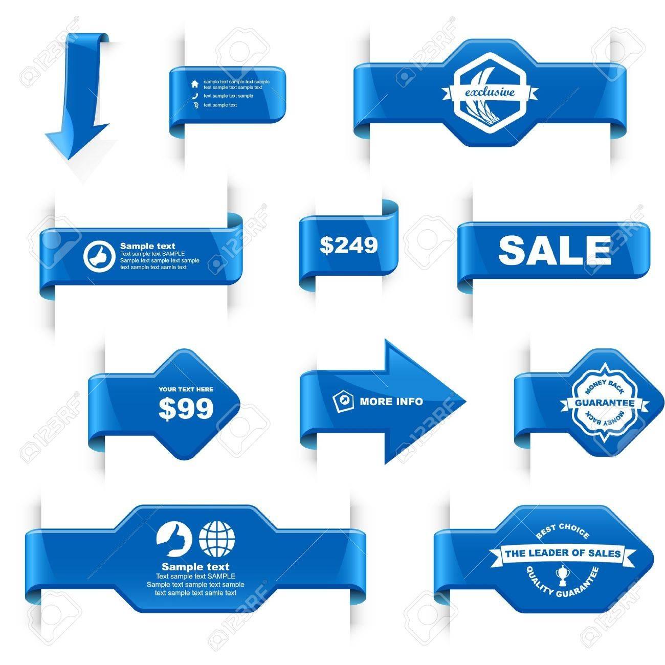 Design elements banner - Set Of Design Elements For Sale Stock Vector 9901900