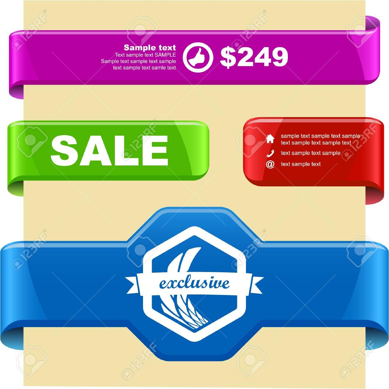 Vector set of sale design elements Stock Vector - 9396856