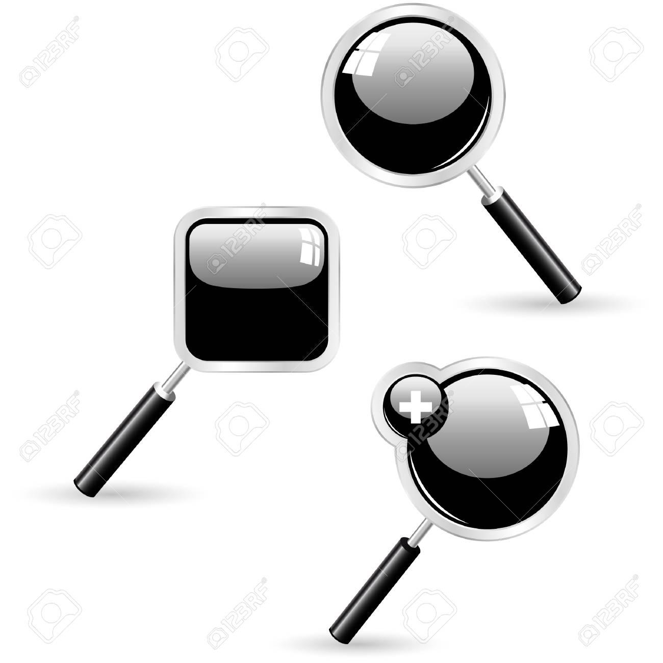 Vector search icons. Vector set. Stock Vector - 9409079