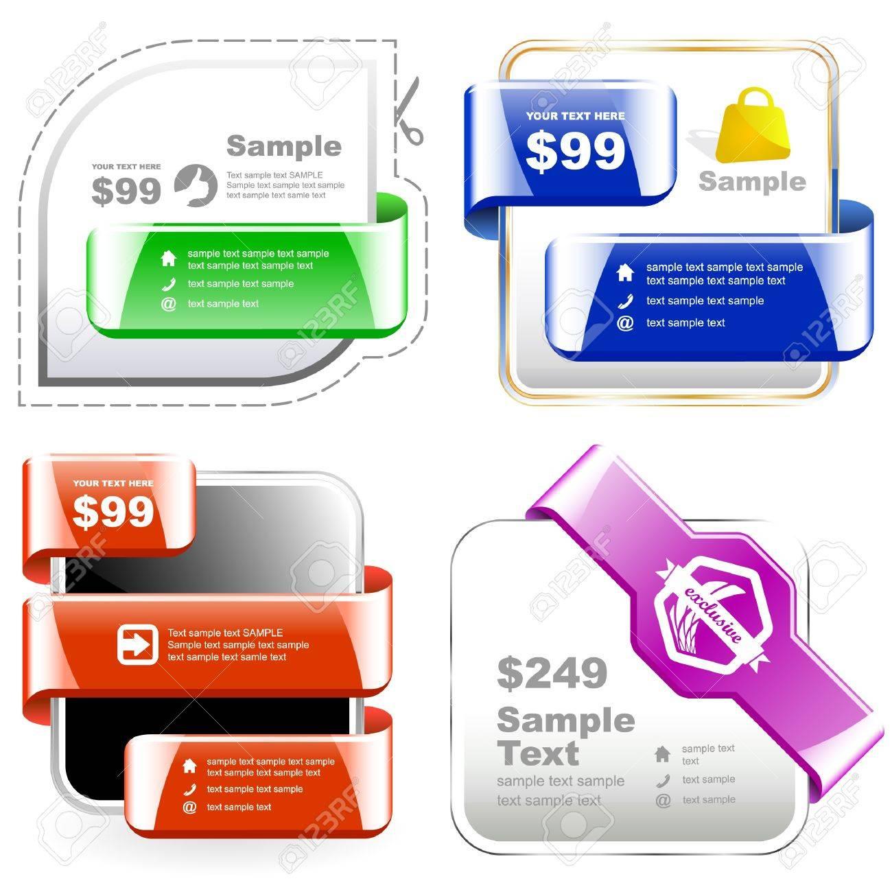 Vector set of sale design elements Stock Vector - 9409150