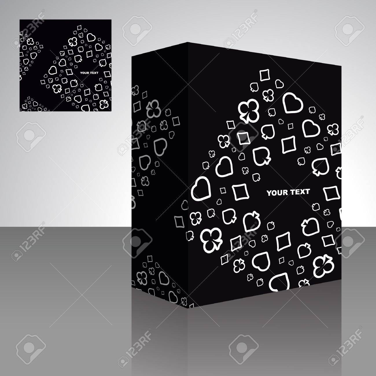 Abstract packaging box. Vector illustration of card symbolic. Stock Vector - 9409144