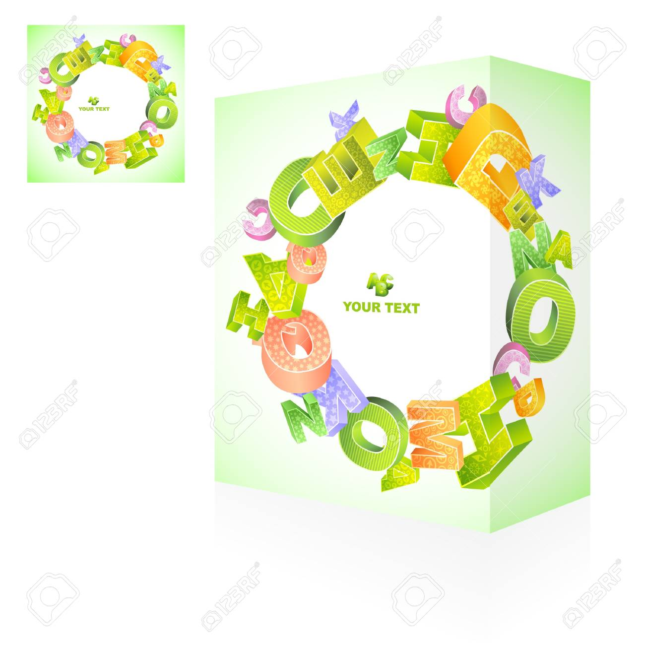 Vector packaging box. Abstract illustration. Stock Vector - 9409329