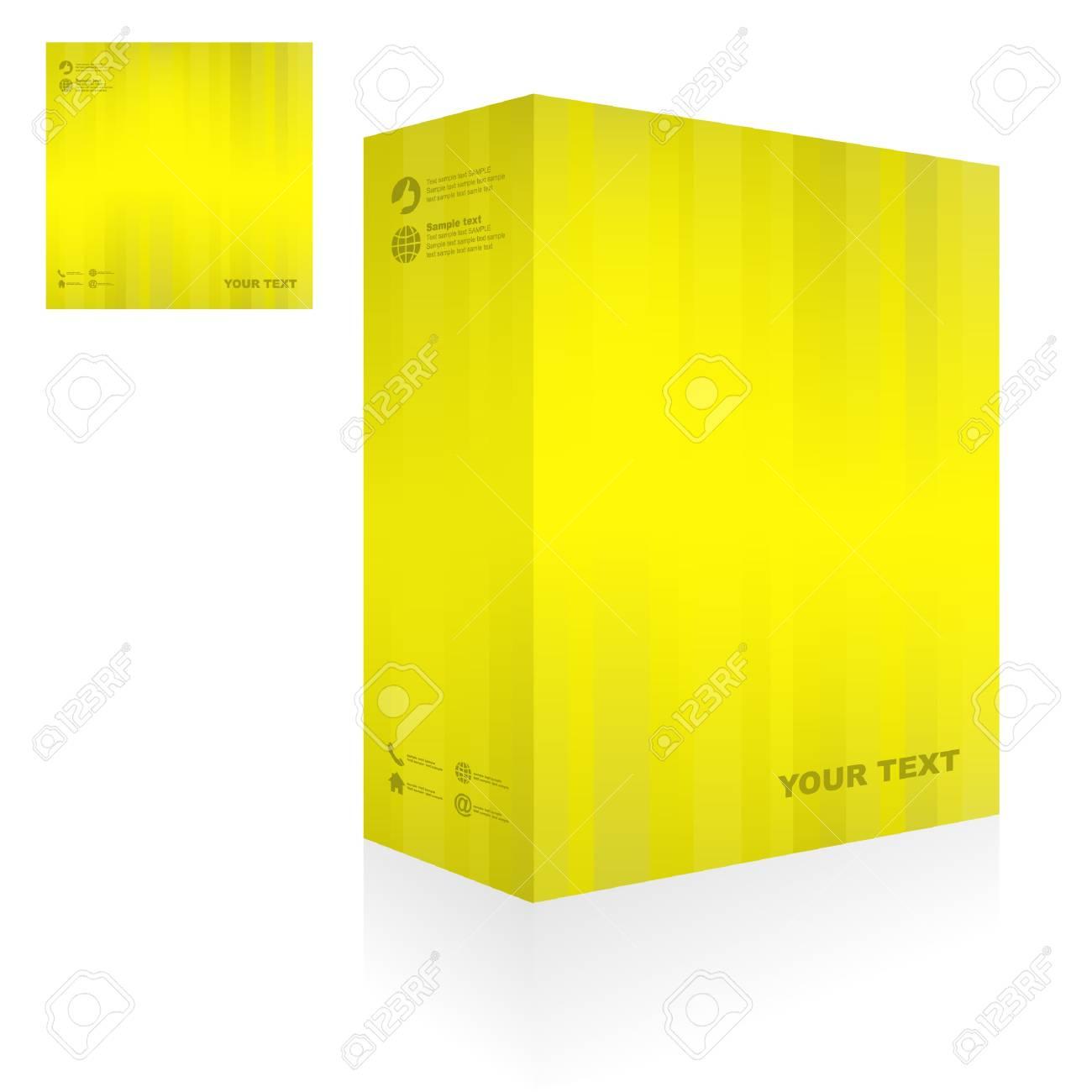 Vector packaging box. Abstract illustration. Stock Vector - 9409146