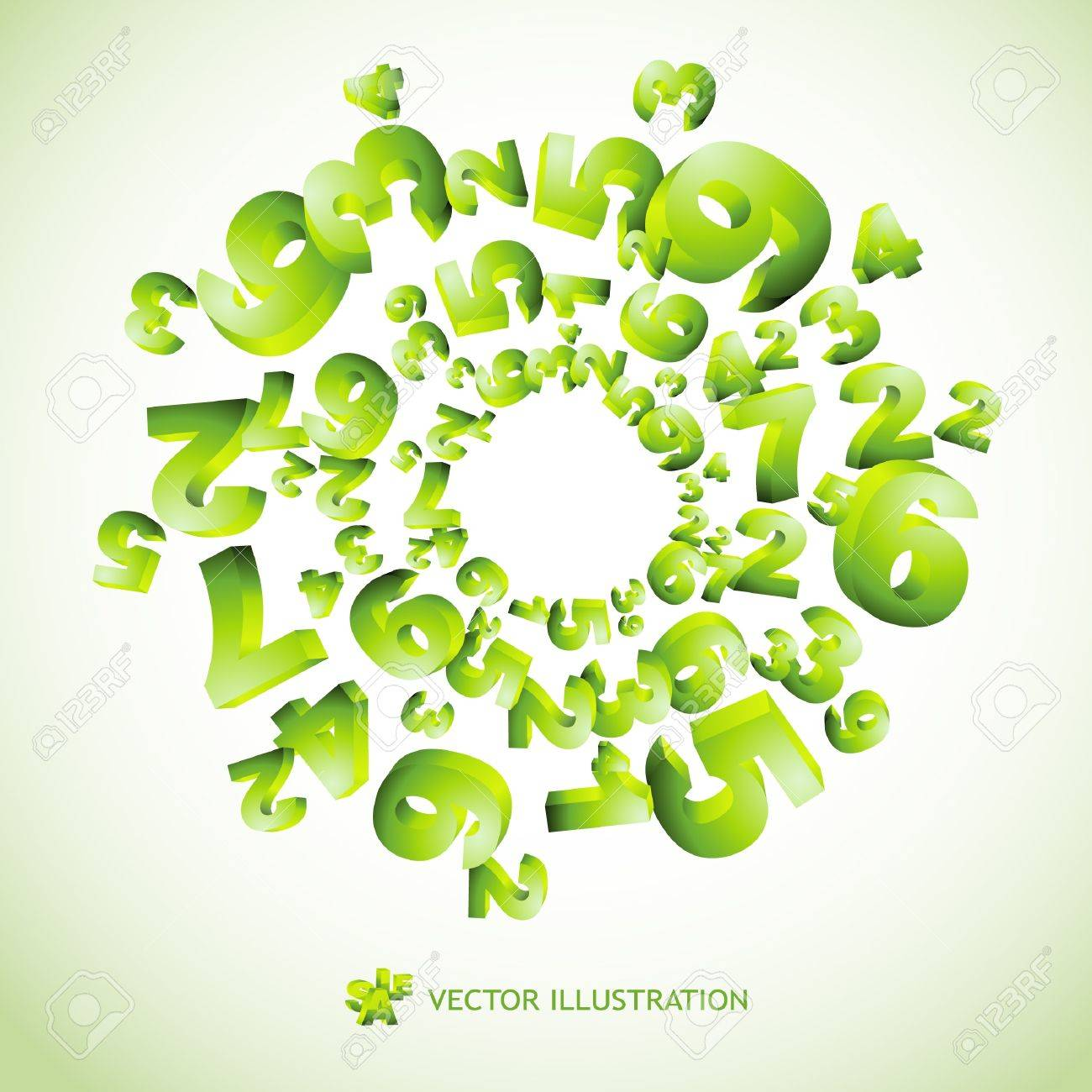 Abstract background with numbers. Stock Vector - 9409135
