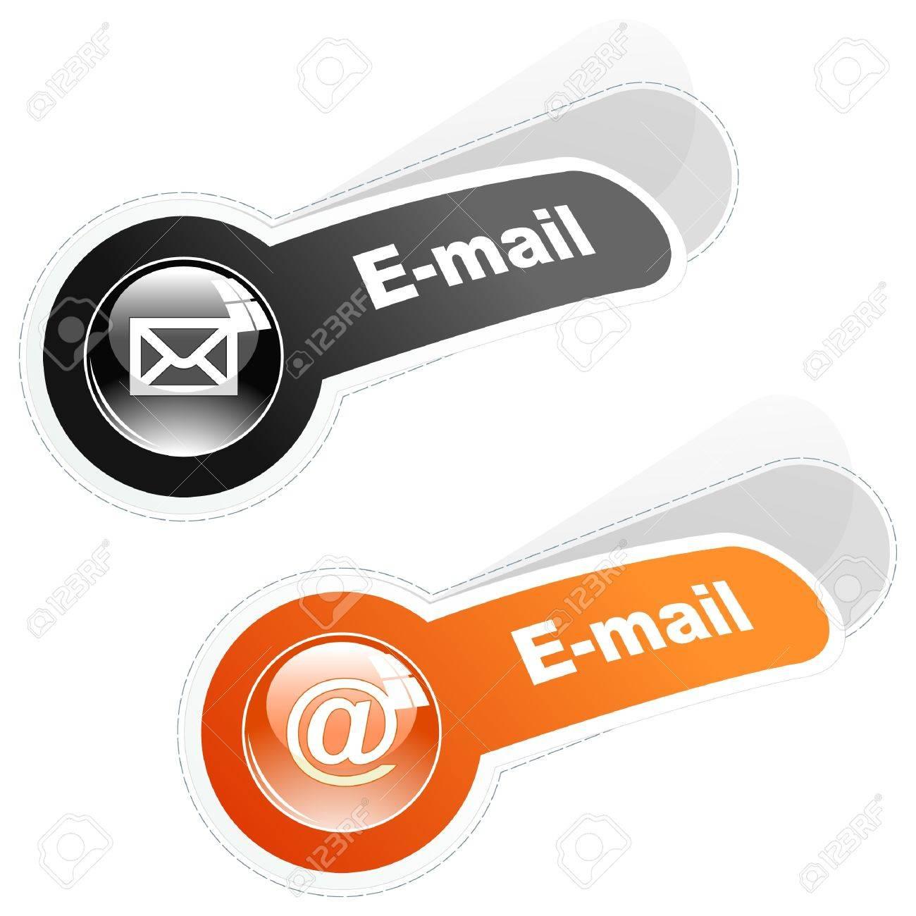 E-mail. Sticker set for web. Stock Vector - 9901768