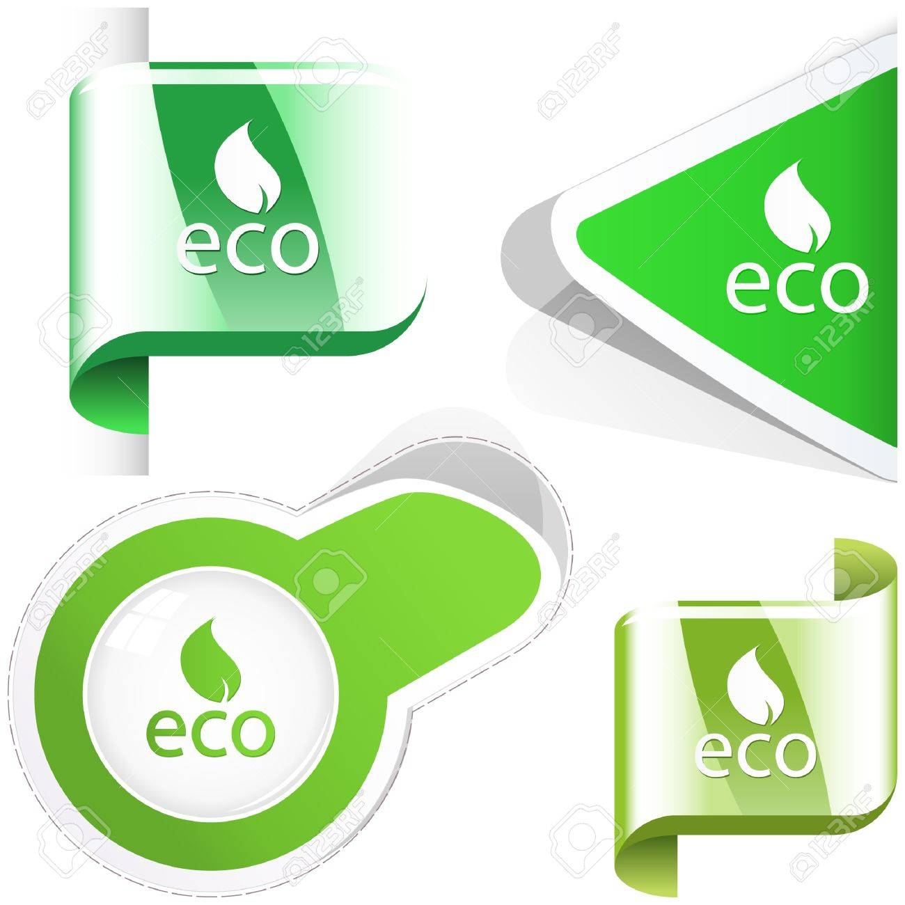 Set of natural elements for design. Stock Vector - 9839787