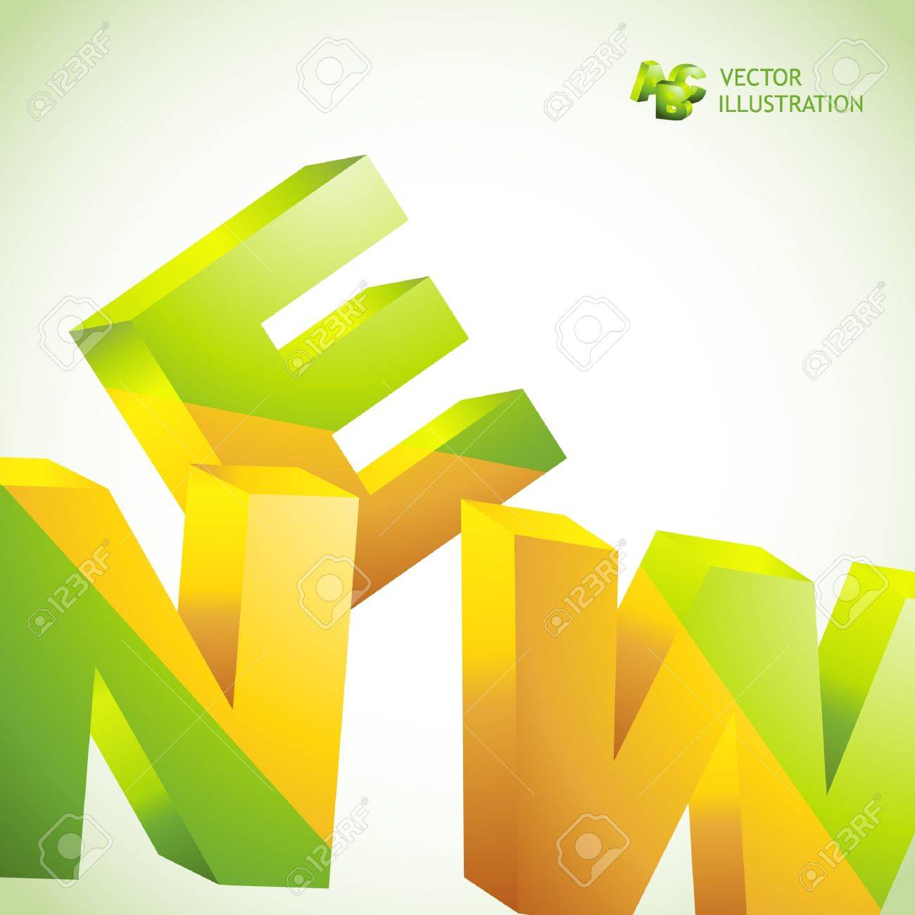 NEW. Vector 3d illustration. Abstract background. Stock Vector - 9492391