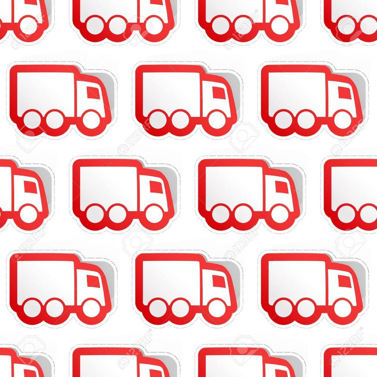 Trucks. Seamless pattern. Stock Vector - 9644749