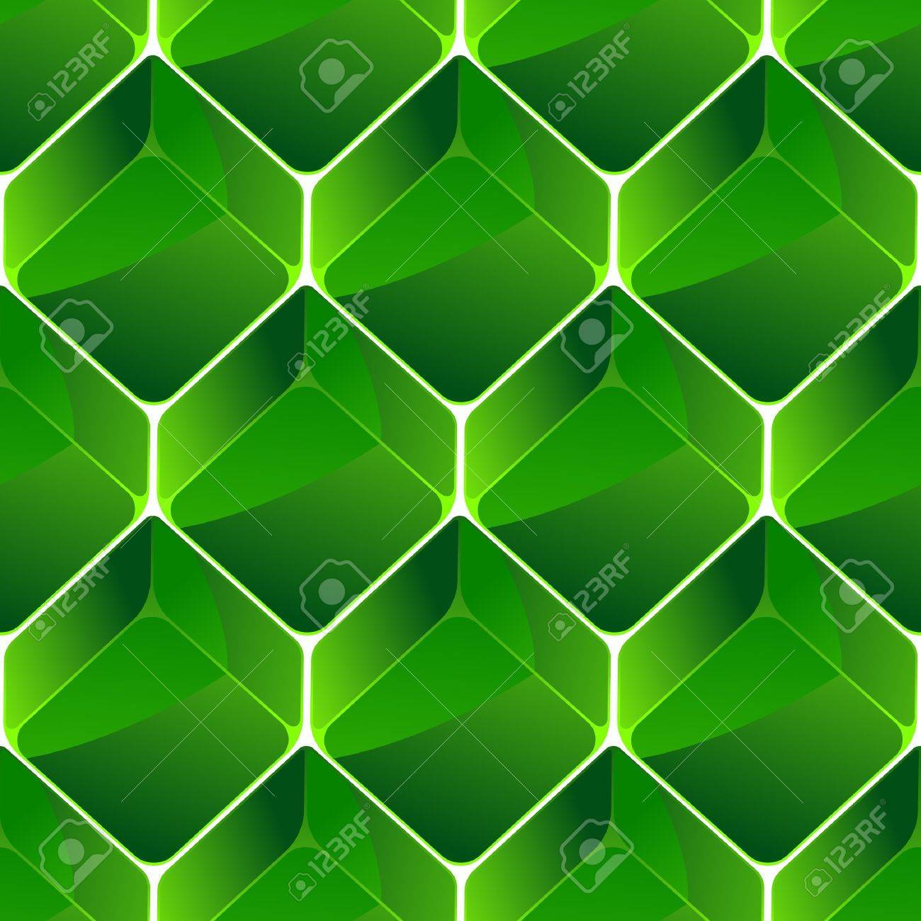 Seamless background with green blocks. Stock Vector - 9644744