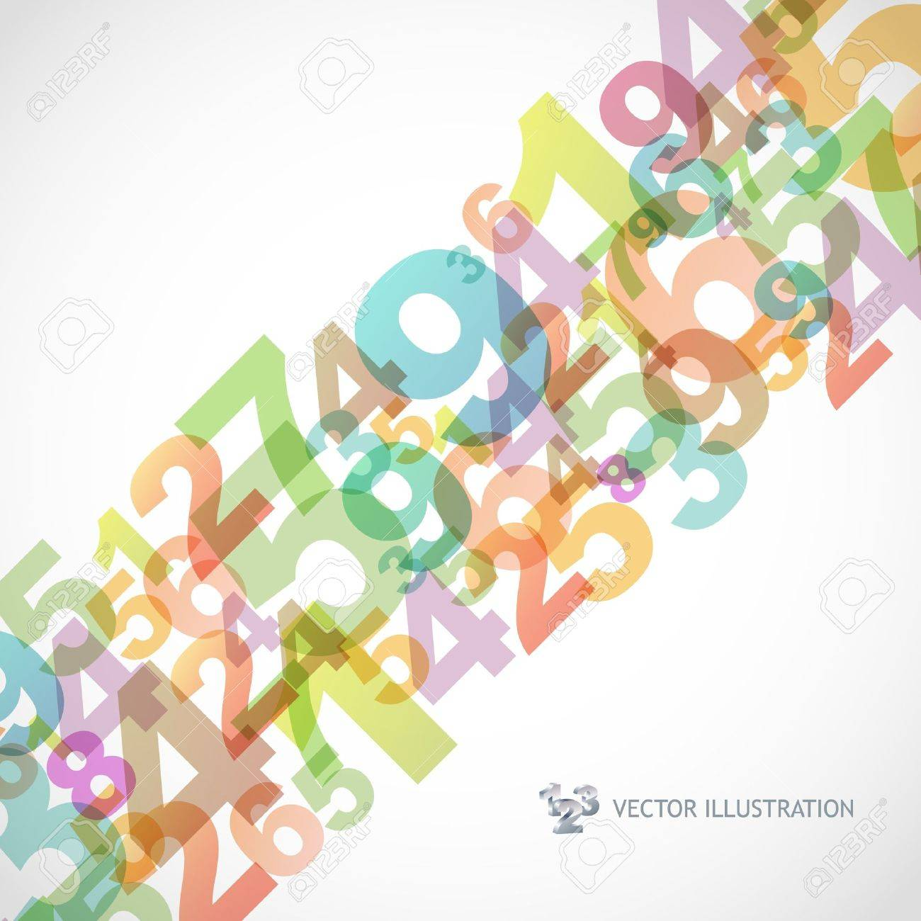 Abstract background with numbers. Stock Vector - 9839730