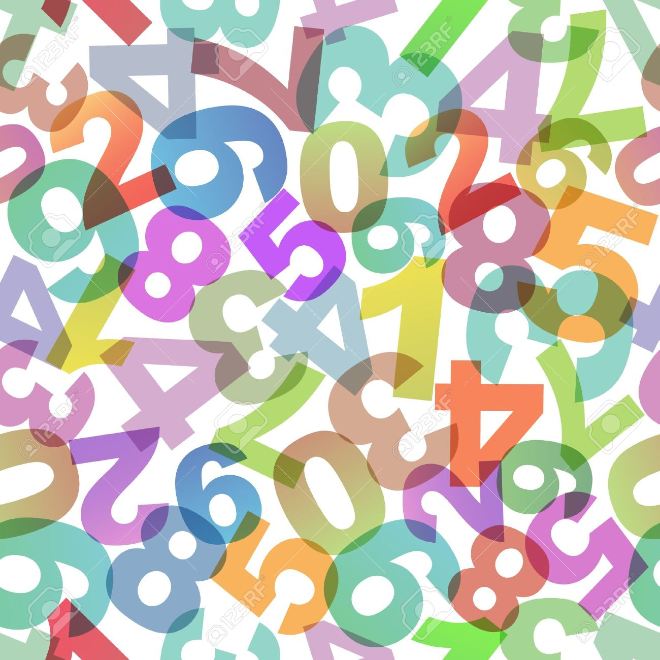 abstract background with numbers. royalty free cliparts, vectors