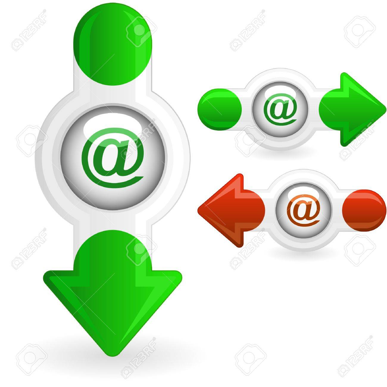 E-mail icon set for web. Stock Vector - 10066895