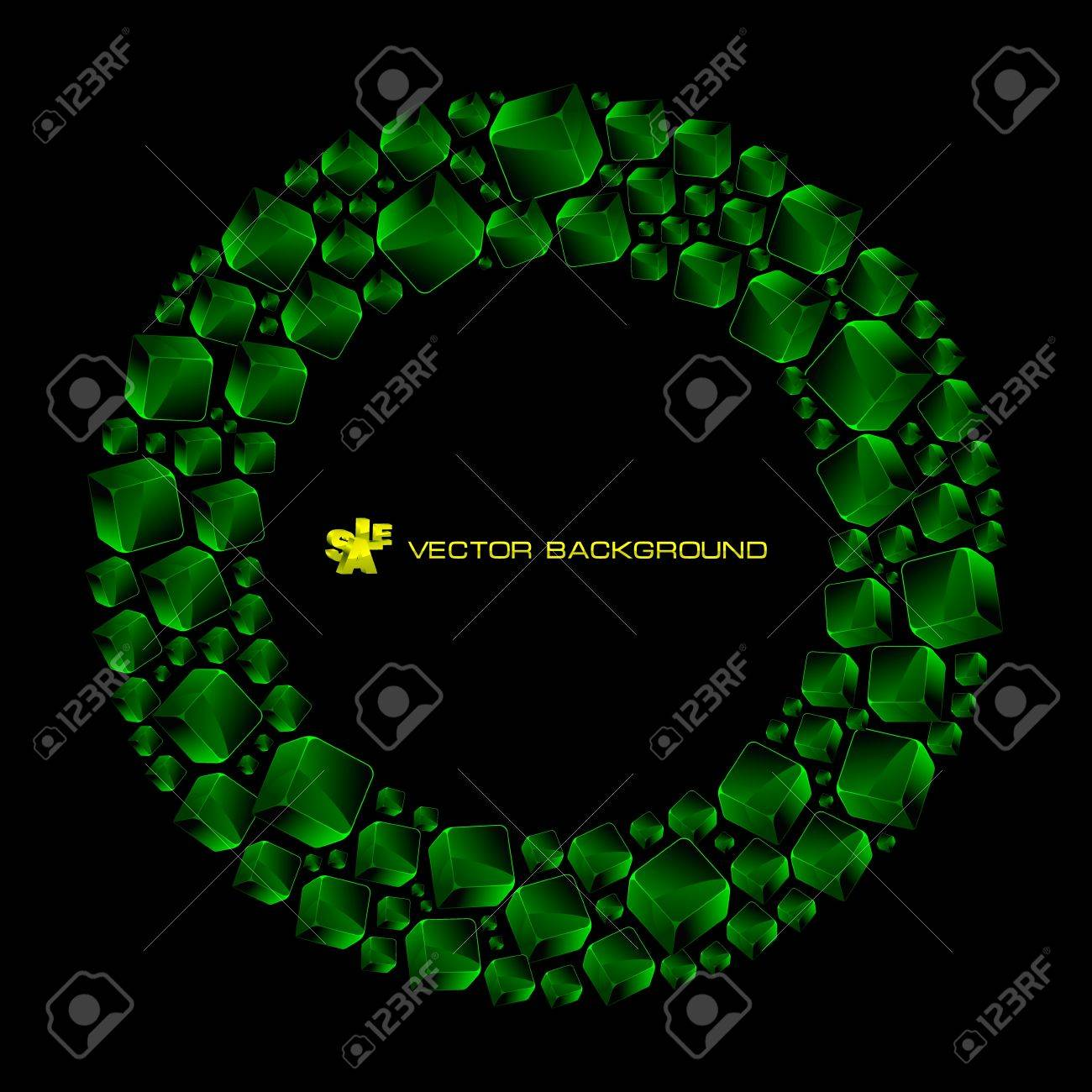 Abstract background with green boxes Stock Vector - 11885547