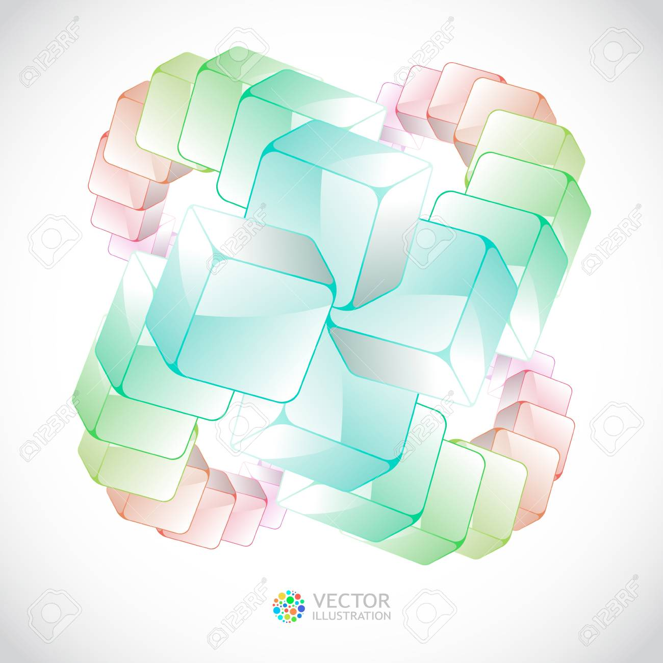 Abstract background with colorful boxes Stock Vector - 11304276
