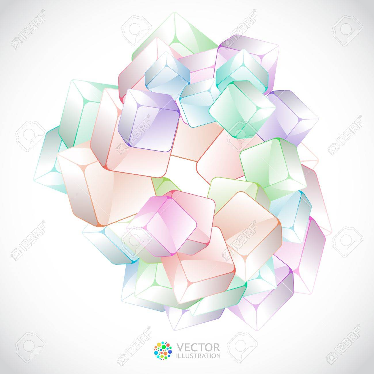 Abstract crystals background. Stock Vector - 11254452