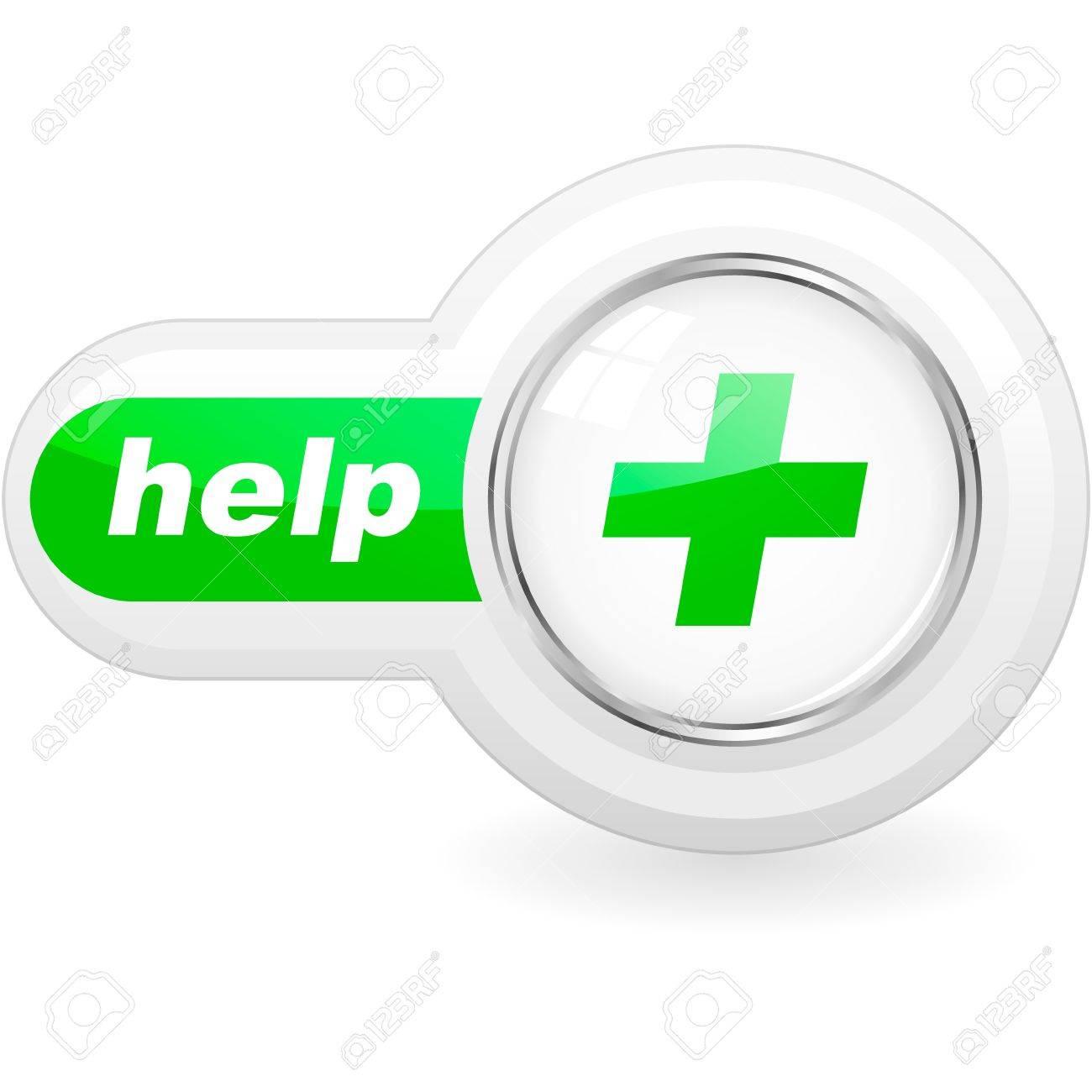 Help button for web. Stock Vector - 11256901