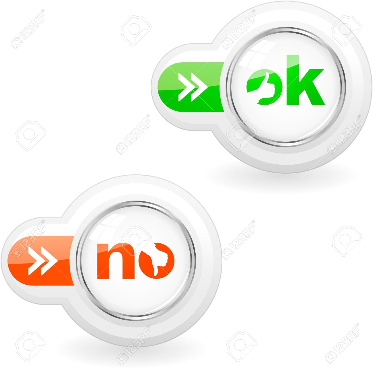 Approved and rejected icons. Stock Vector - 11256906