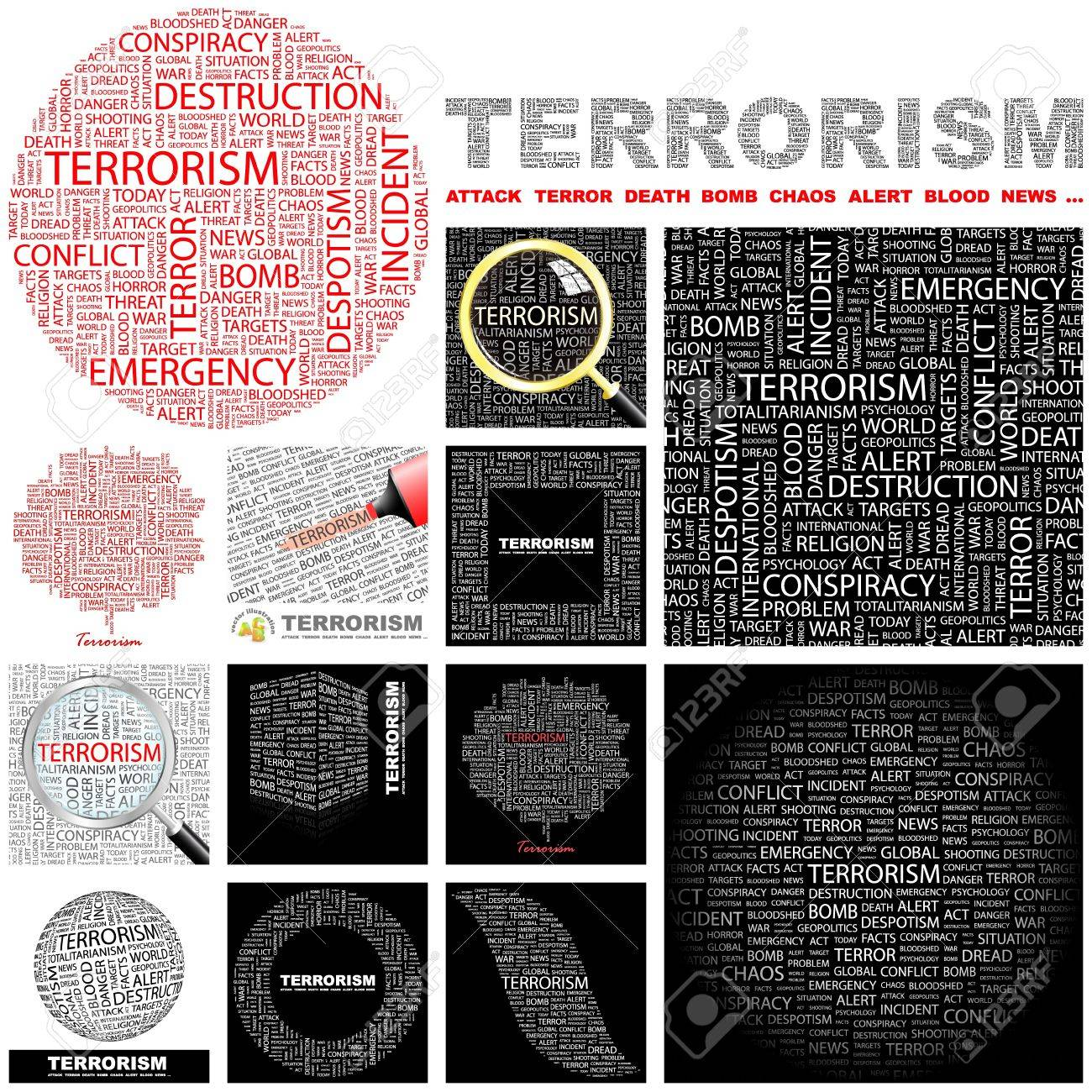 TERRORISM. Word collage. GREAT COLLECTION. Stock Vector - 11269213