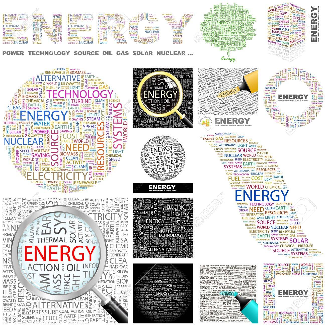 ENERGY  Word collage  GREAT COLLECTION Stock Vector - 16458075