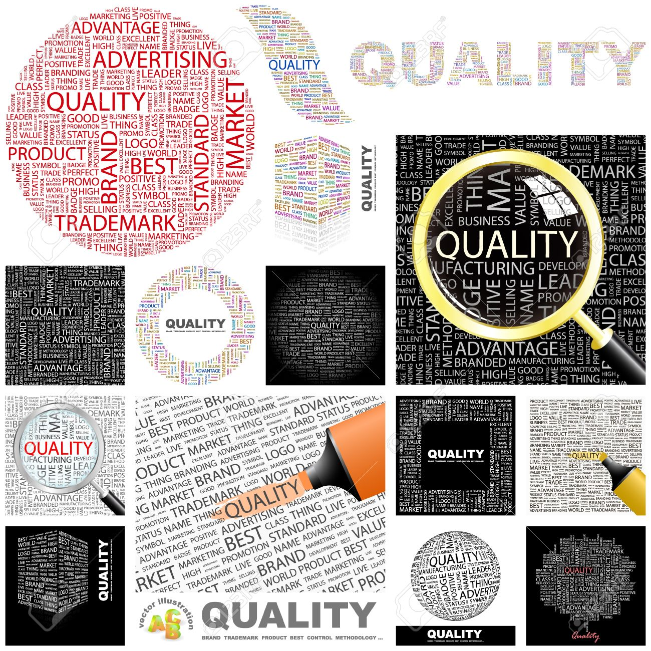 QUALITY   Word collage  GREAT COLLECTION Stock Vector - 15178083