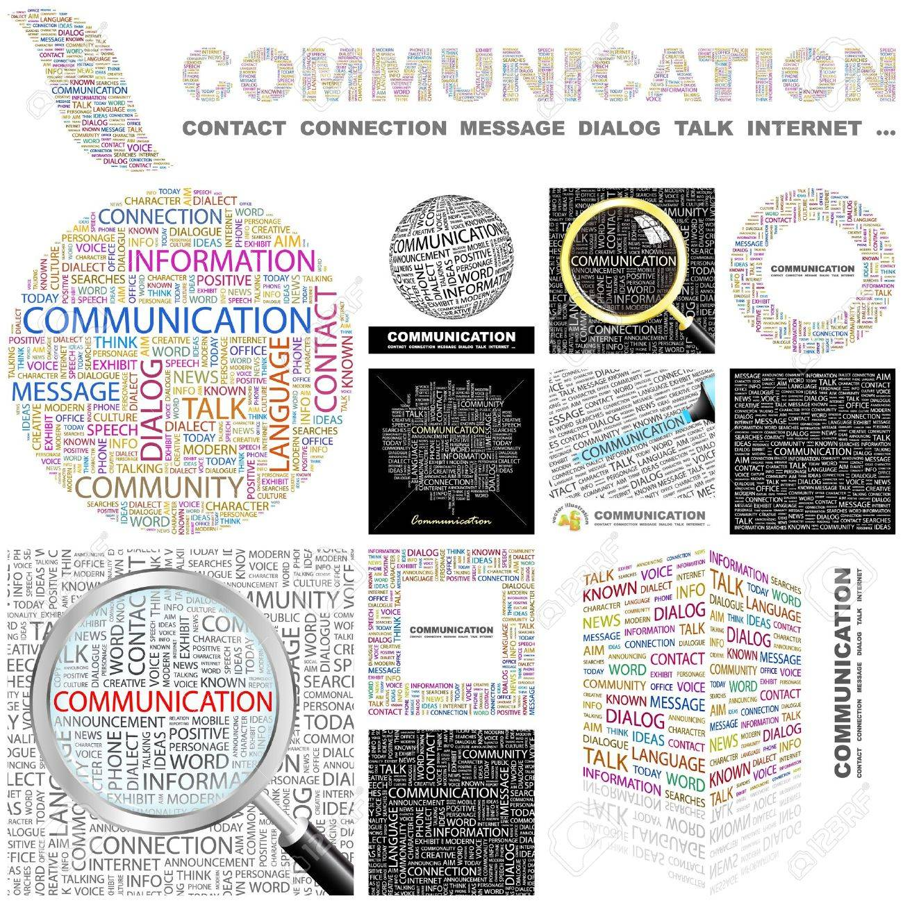COMMUNICATION. Word collage. GREAT COLLECTION. Stock Vector - 11269178