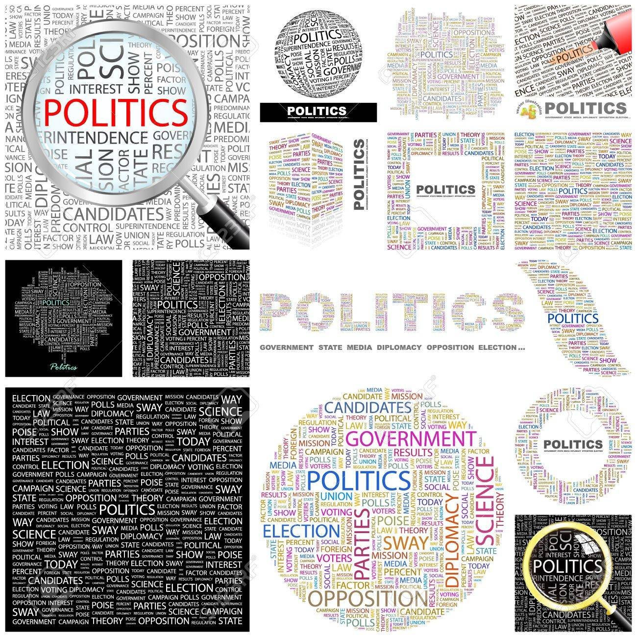 POLITICS. Word collage. GREAT COLLECTION. Stock Vector - 11269175